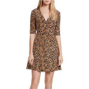 Diane von Furstenberg Savilla Leopard Wrap Dress